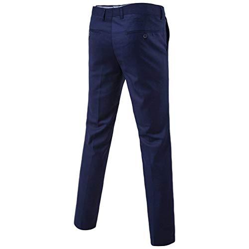 Chino Dunkel Leisure Blau Uomo Business Classici Casual Dritta Slim Skinny Primavera Da Huixin A Pantaloni 1 Autunno Gamba Suit gn5aqa