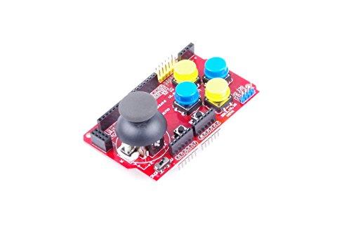 Funduino Gamepad Joystick Shield V1 Expansion Board Red Arduino