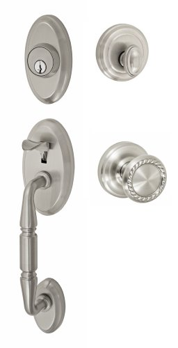 Fusion Hardware H-15-S3-0-BRN Weston Handleset with Two-Piece Interior, Brushed Nickel