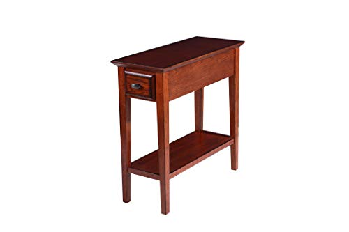Phoenix Home Tilburg Chair-Side Solid-Wood End Table with Drawer and Bottom Shelf, Cherry Oak ()