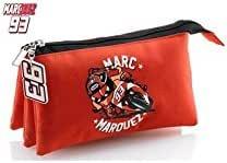 Miquel Rius 18164 - Portatodo triple Marc Márquez mm93, color rojo: Amazon.es: Oficina y papelería