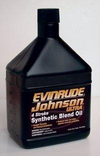 BRP EVINRUDE / JOHNSON 764365 4-STROKE ULTRA SYNTHETIC BLEND OIL QUART