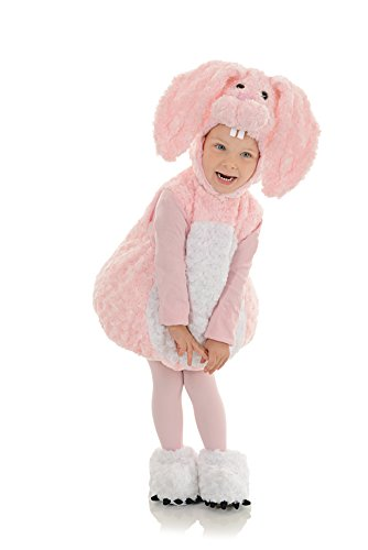Underwraps Baby's Pink Bunny Belly-Babies, Pink/White, Medium (Bunny Costumes For Kids)