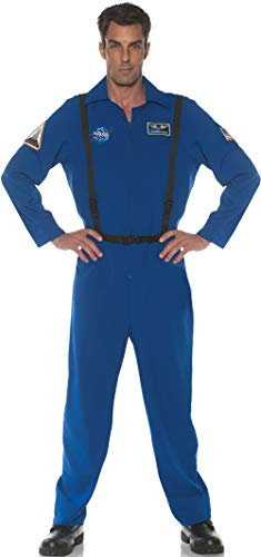 Underwraps Men's Astronaut Flight Suit Costume, Blue, One Size]()