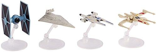 Mattel Star Wars Hero & Villain 4-Pack Starship Models
