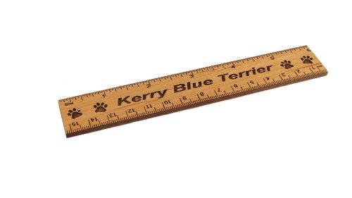 - Kerry Blue Terrier 6 Inch Alder Wood Ruler