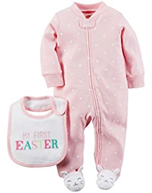 Baby Girls My First Easter Sleep & Play 2 Piece Set