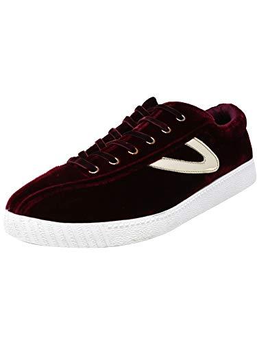 - Tretorn Women's Nylite 16 Fabric Rubino/Platino Ankle-High Fashion Sneaker - 4.5M