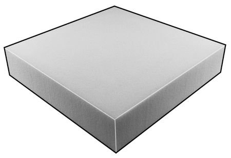 Foam Sheet, 80280 Poly, Natural, 3x24x72 by GRAINGER APPROVED