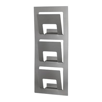 Ikea Porte Revues Spontan En Acier Avec 3 Compartiments