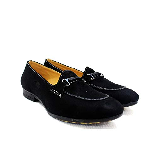55190c6d796 Mytrendsetter Men s Black Velvet Loafers- MYTS T-11  Buy Online at Low  Prices in India - Amazon.in