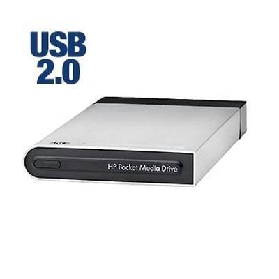 (HP Pocket Media Drive 500 GB USB 2.0 Portable External Hard Drive (Black/Silver))