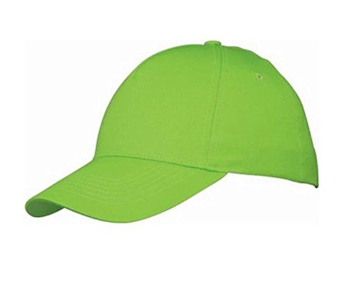 plain-baseball-cap-blank-hat-solid-color-velcro-adjustable-apple-green
