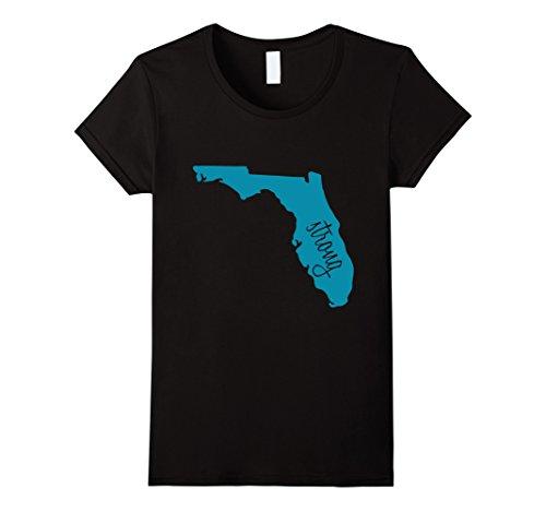 Womens Florida Strong T Shirt Small Black