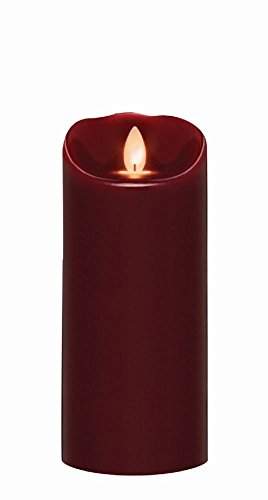 Mirage Collection 1 Light - Sterno Home MGT814307OX00 Oxblood Wax Pillar with Timer