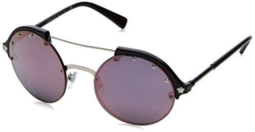 Versace Womens Sunglasses Silver/Pink Plastic,Nylon - Non-Polarized - - Versace Pink Glasses