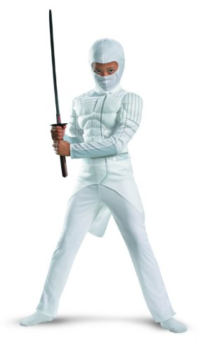 G.i. Joe Retaliation Storm Shadow Classic Muscle Costume, White, Small
