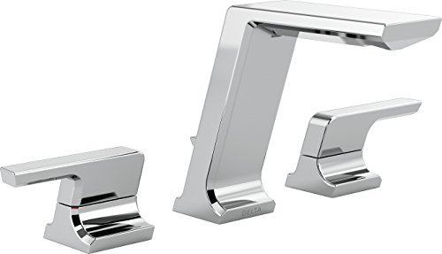 Delta Faucet 3599LF-MPU Pivotal Two Handle Widespread Lavatory Faucet, Chrome ()