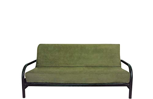 OctoRose Full Size Bonded Classic Soft Micro Suede Futon Cover (Sage Green) (Cover Only, Mattress and Frame DO NOT Included) ()