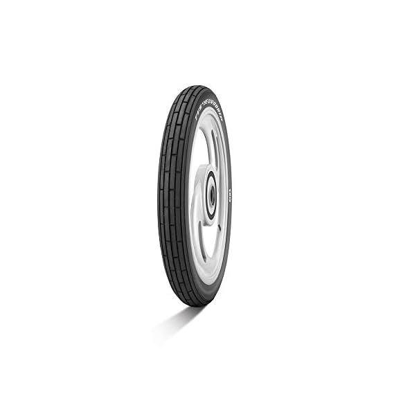 TVS Eurogrip 2.75-17 41P 4PR TEG RIB Tube-Type Bike Tyre, Front (3MCY50)