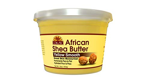 OKAY | African Shea Butter - Yellow Smooth | For All Hair Textures & Skin Types | Moisturize and Soothe Irritation | With Vitamin A & E | All Natural | 16 Oz ()