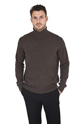 Cashmeren Men's Wool Cashmere Classic Knit Soft Long Sleeve Turtleneck Pullover Sweater (Mocha, X-Large)