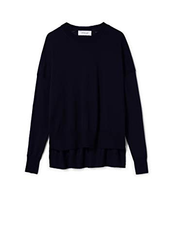 - Derek Lam 10 Crosby Women's Long Sleeve Boxy Crewneck Silk Wool Knit Sweater