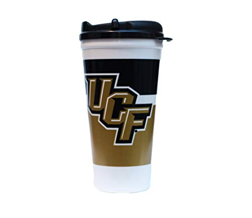 - UCF 24 oz Tumbler Mug with Lid by Whirley Drink Works Perfect for Travel and Sports Events On The Go, Dual Walled NCAA Mug for Better Insulation