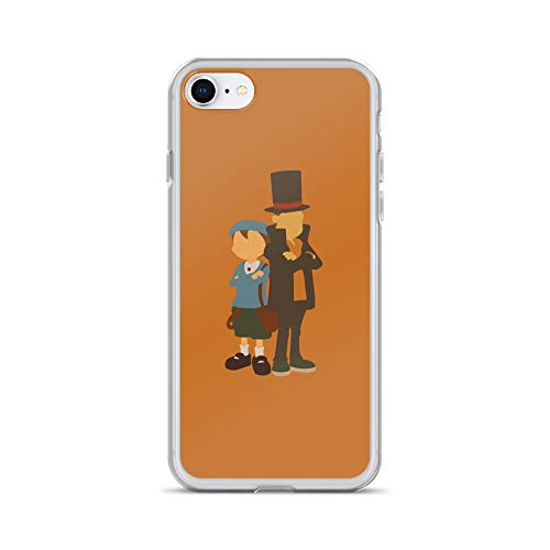 iPhone 7/8 Case Anti-Scratch Gamer Video Game Transparent Cases Cover Professor Layton Gaming Computer Crystal Clear