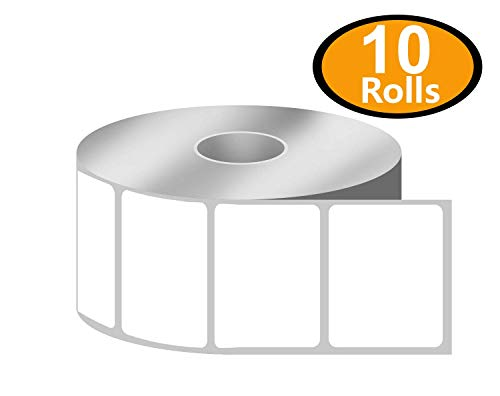 """BETCKEY - 1.25"""" x 1"""" UPC Barcode & Address Labels Compatible with Zebra & Rollo Label Printer,Premium Adhesive & Perforated[10 Rolls, 13800 Labels]"""