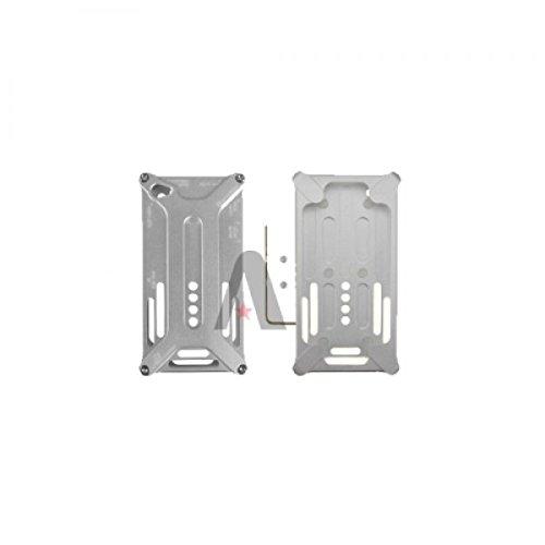 arachnophobia Boîtier en aluminium Coque Housing Cover Case Etui de protection rigide Coque rigide Durable pour iPhone 4/4S Argenté–Sous blister