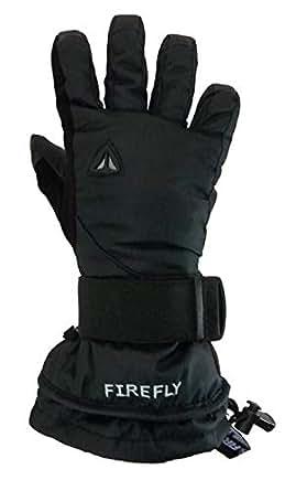 Firefly Mail Black Snowboard Gloves w/built in Wrist