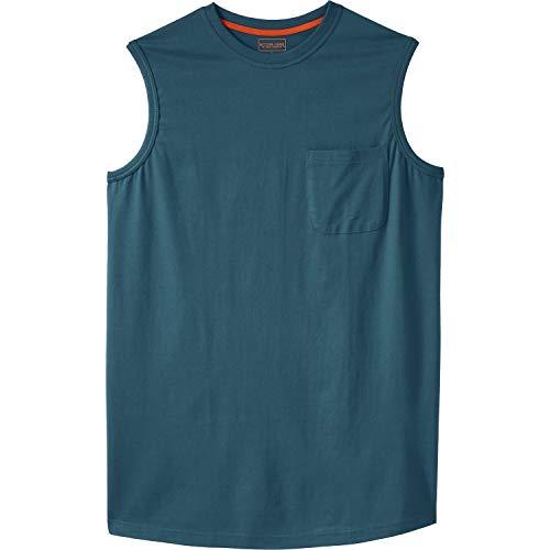 Boulder Creek Men's Big & Tall Heavyweight Pocket Muscle Tee, Blue Indigo Big-5XL