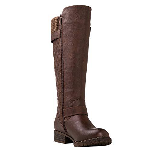 GLOBALWIN Women's 19YY01 Brown Fashion Boots 9M