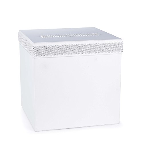 Hortense B. Hewitt 31116 Wedding Accessories Bling Card Box, White