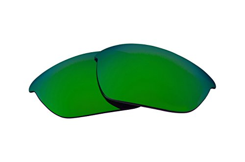 Replacement Lenses Compatible with OAKLEY FLAK JACKET Polarized Green Mirror
