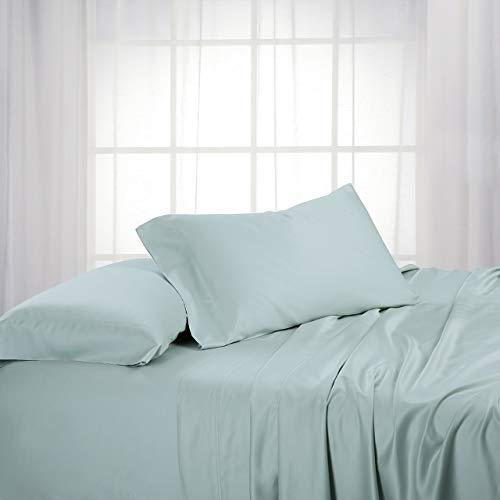 Royal Hotel ABRIPEDIC Bamboo Sheets, 600 Thread Count, Silky Soft Sheets 100% Viscose from Bamboo Sheet Set, King, Sea