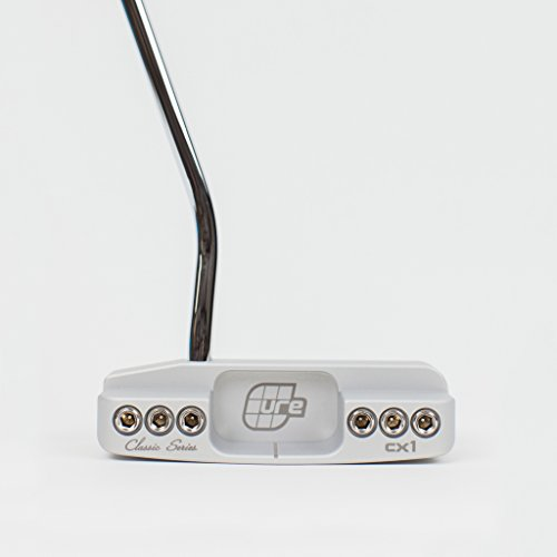 Cure Putters CX1 Golf Putter, Platinum, 35