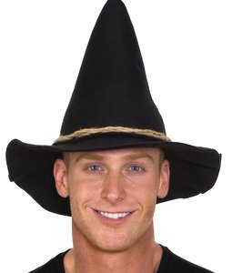 Adult Scarecrow Hat (Black Scarecrow Hat w Rope Band Adult)