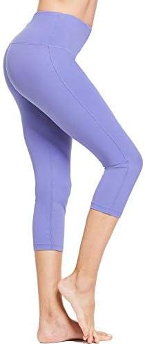 28 High Waisted Yoga Leggings Workout Capri Tummy Control Pants with Pocket Plus Size//Regular BALEAF Womens 20