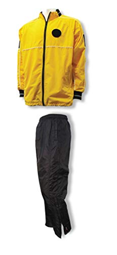 Code Four Athletics Soccer Referee Water-Resistant Jacket/Pant Set - Size Adult Large Gold/Black