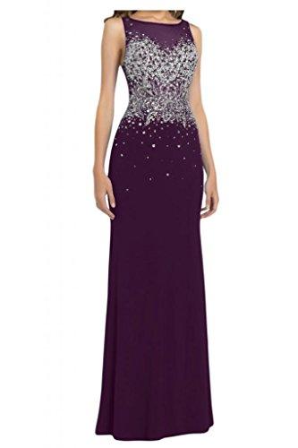Por la noche la gasa nupcial de la Toscana EXQUISIT Rueckenfrei Prom bola de fiesta a largo vestidos de noche vestidos de moda Traube