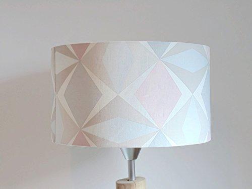 Pantalla de lámpara pastel geométrica escandinavo - rosa ...