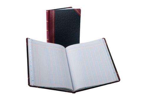 Boorum & Pease 21 Series Columnar Book, 6 Column, 150 Page, Black/Red