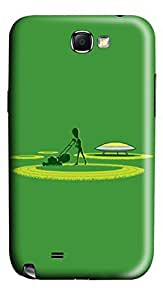 Alien Crop Circles Funny PC Case Cover for Samsung Galaxy Note II N7100