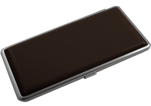 Cigarettes Mild - Contemporary Leather 120mm Cigarette Cases - Brown