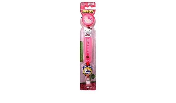 Firefly - Cepillo de dientes Hello Kitty intermitente 1 minuto temporizador: Amazon.es: Belleza