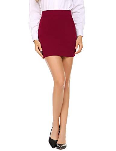 Zeagoo Women's Classic High Waisted Slim Skirt