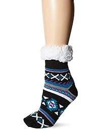MUK LUKS womens Women's 1-pair Fluffy Cabin Socks Slipper Sock