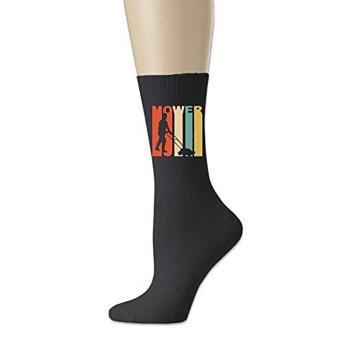 - Men Casual Socks Women Athletic Sock 78% Cotton / 20% Nylon / 2% andex - Retro 1970's Style Lawnmower Silhouette